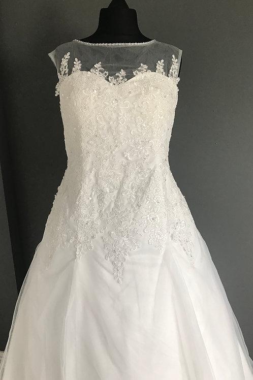 Size 20 Ivory Illusion Neckline Wedding Dress