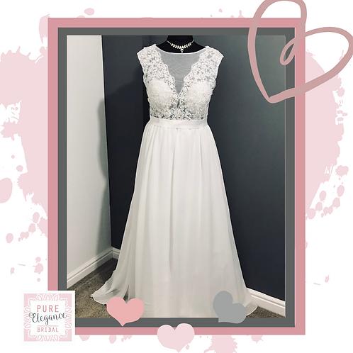 Size 22 Pale Ivory Wedding Dress