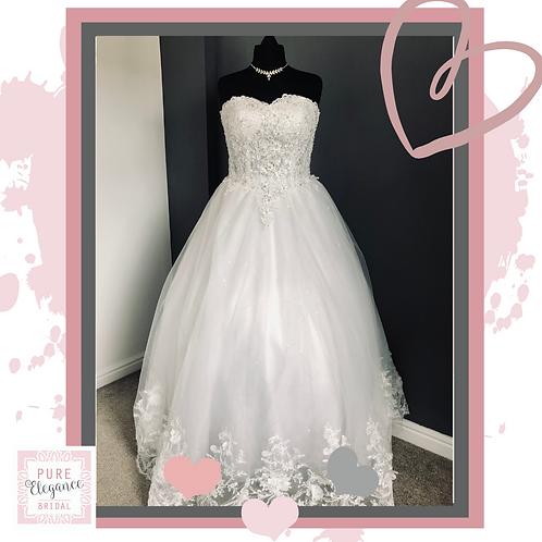 Size 22 Ivory Wedding Dress with Beaded Bodice