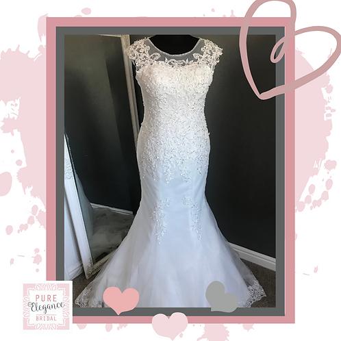 Size 18/20 Ivory Beaded Mermaid Wedding Dress