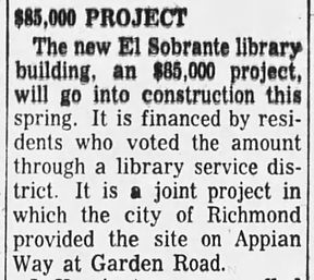 El Sobrante Library Project_Oakland Tribune 7 Apr 1960
