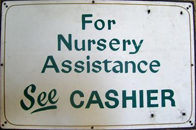 Adachi Nursery Sign