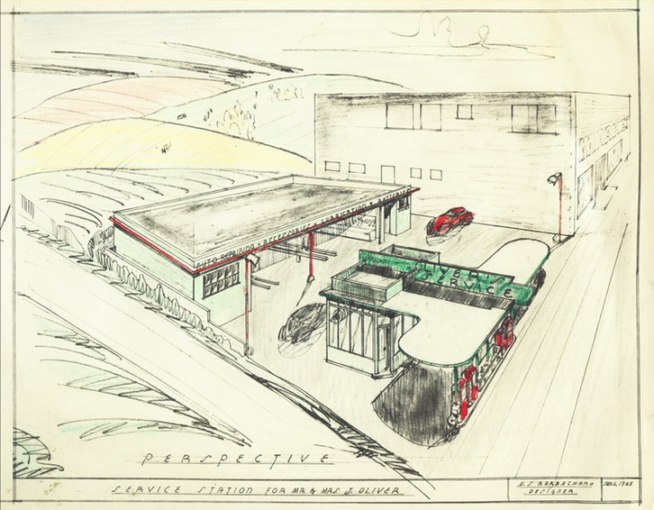 Architectural Drawing, Oliver's Union Station, 1945