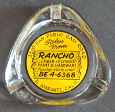 Rancho Lumber Ashtray