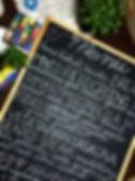 Stefanie Hofmeister calligraphy chalkboard wedding menu