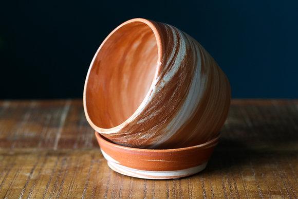 Handmade terracotta Pot Round