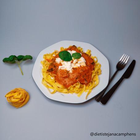 Pasta met ricotta en spinazie als wedstrijdvoeding