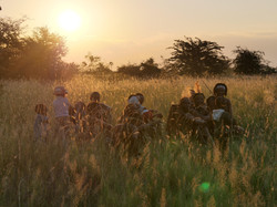 Sunset with Khoisan