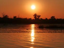 Sunset on the Linyanti