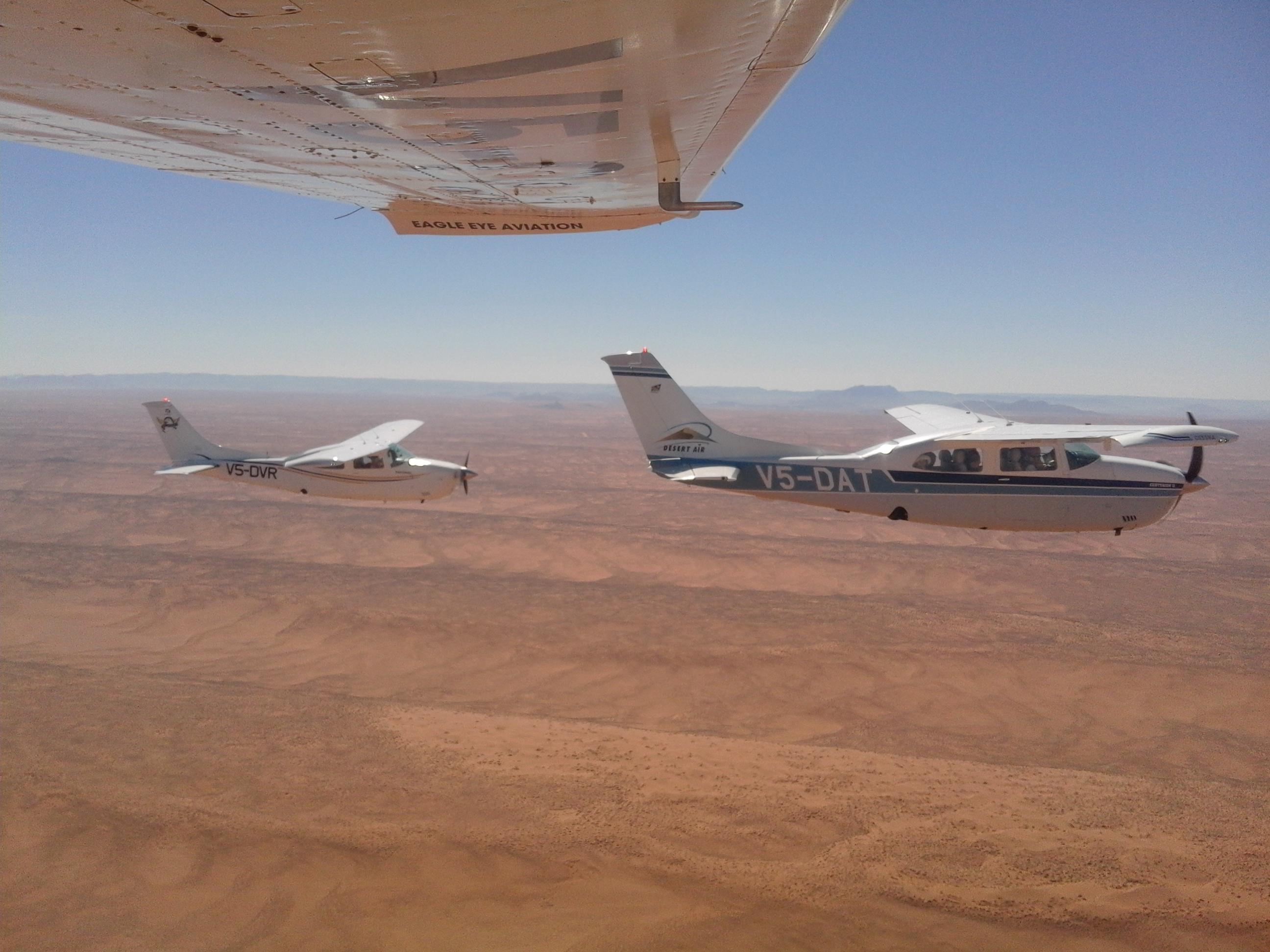 Cruising over the desert