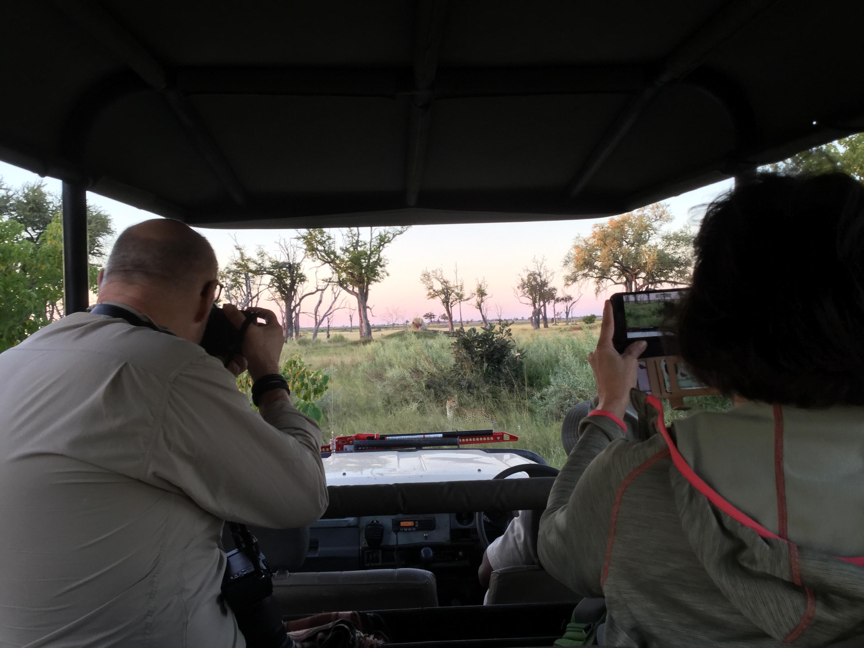 Peter & Patricia capturing Leopard