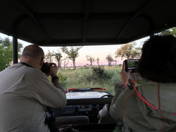 Peter & Patricia capturing Leopard