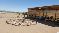 Waiting area in the desert