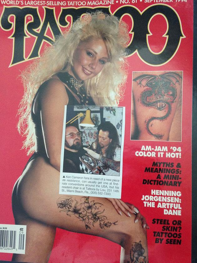TATTOO MAGAZINE 1994   Tattoo And Piercing Shop Miami   Tattoos by Lou