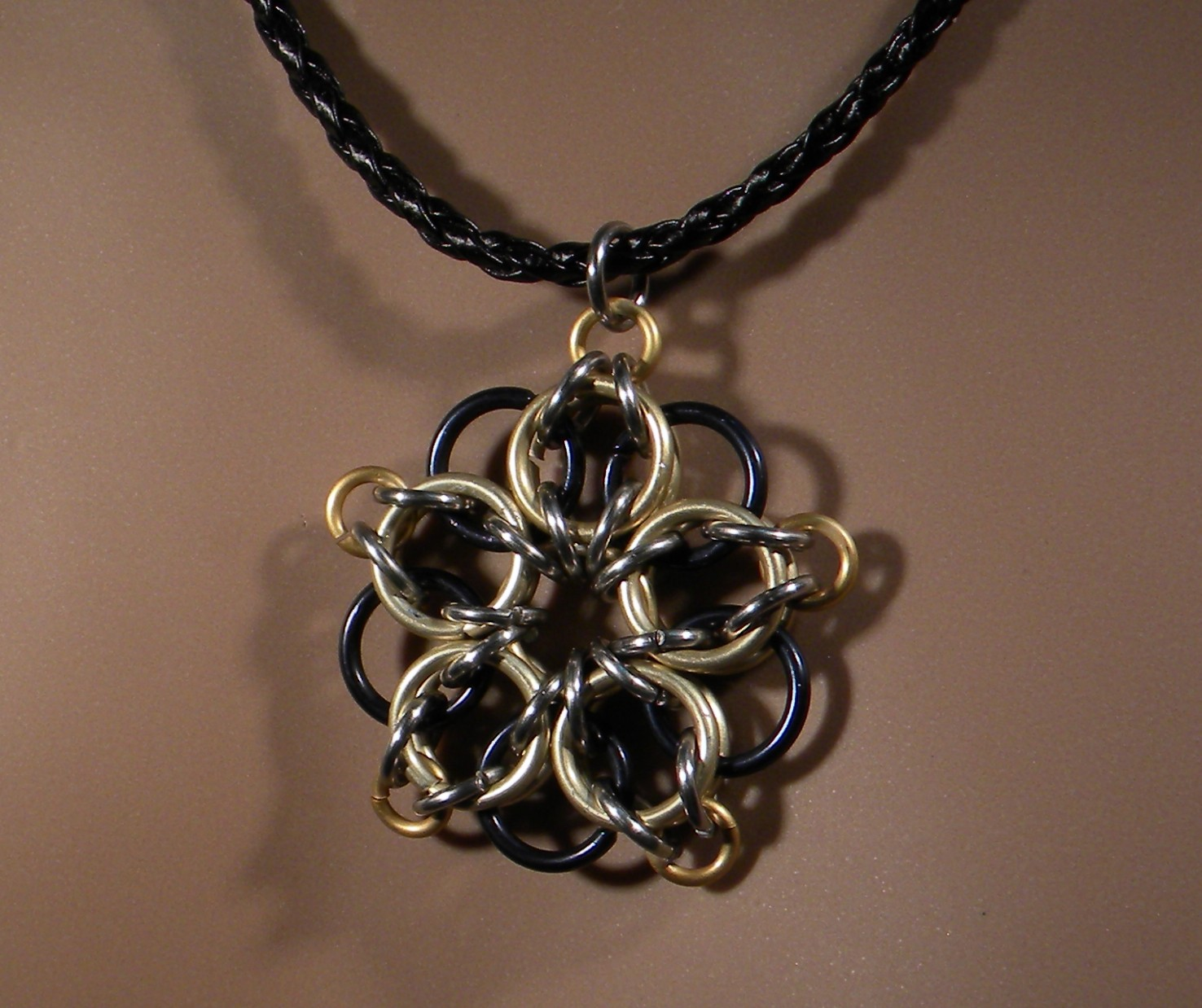 Celtic Star Necklace (Gold on Black)