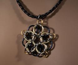 Celtic Star Necklace (Gold on Black)