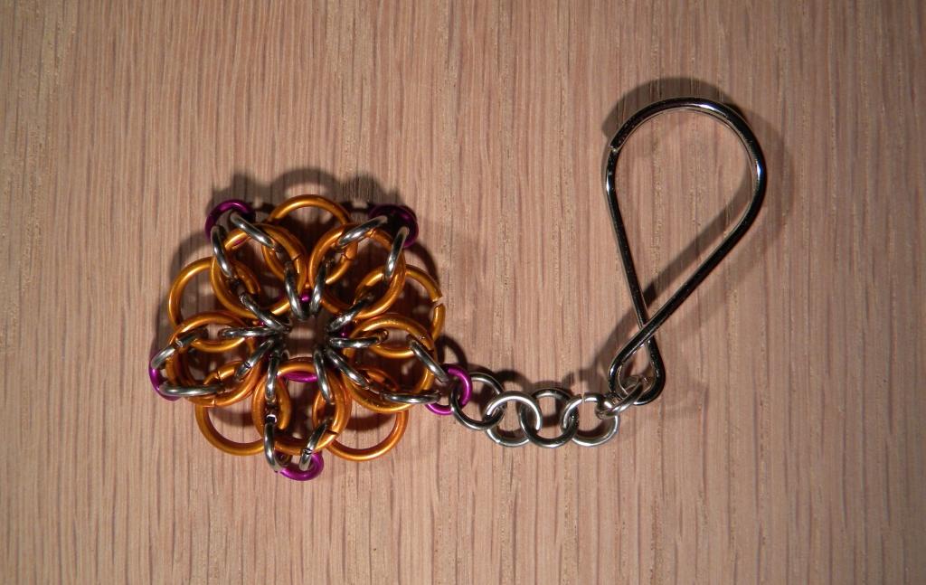 Purple/Orange Celtic Star Keychain