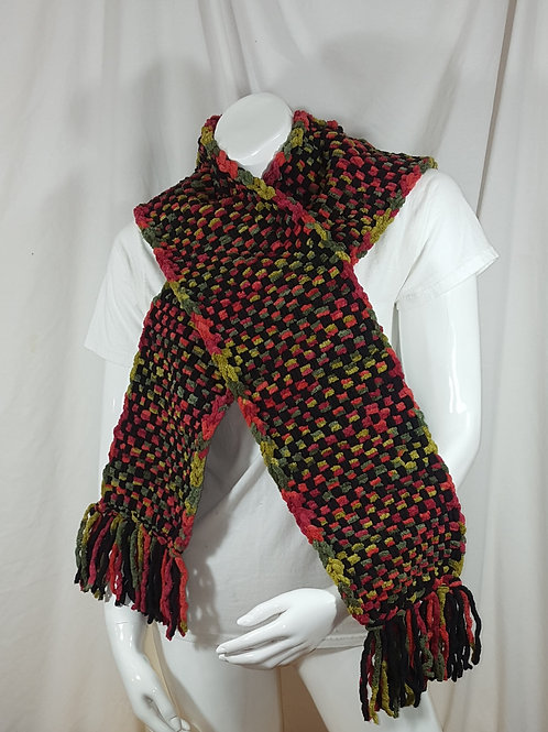 Bountiful Harvest Black Dapple - Woven Scarf