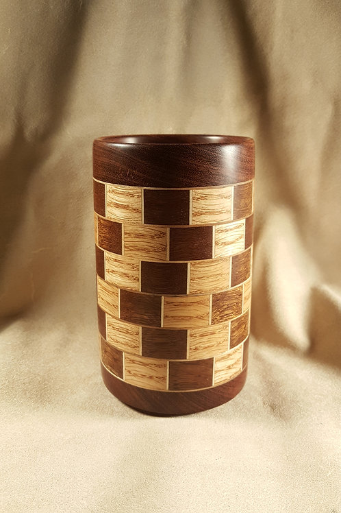 Segmented Ring Wood Chopstick Drying/Pencil Cup #2