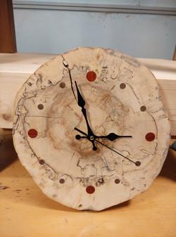 Spalted Oak Wall Clock