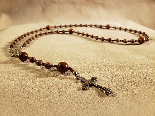 Rosary #2 - Wood and Stone Beads