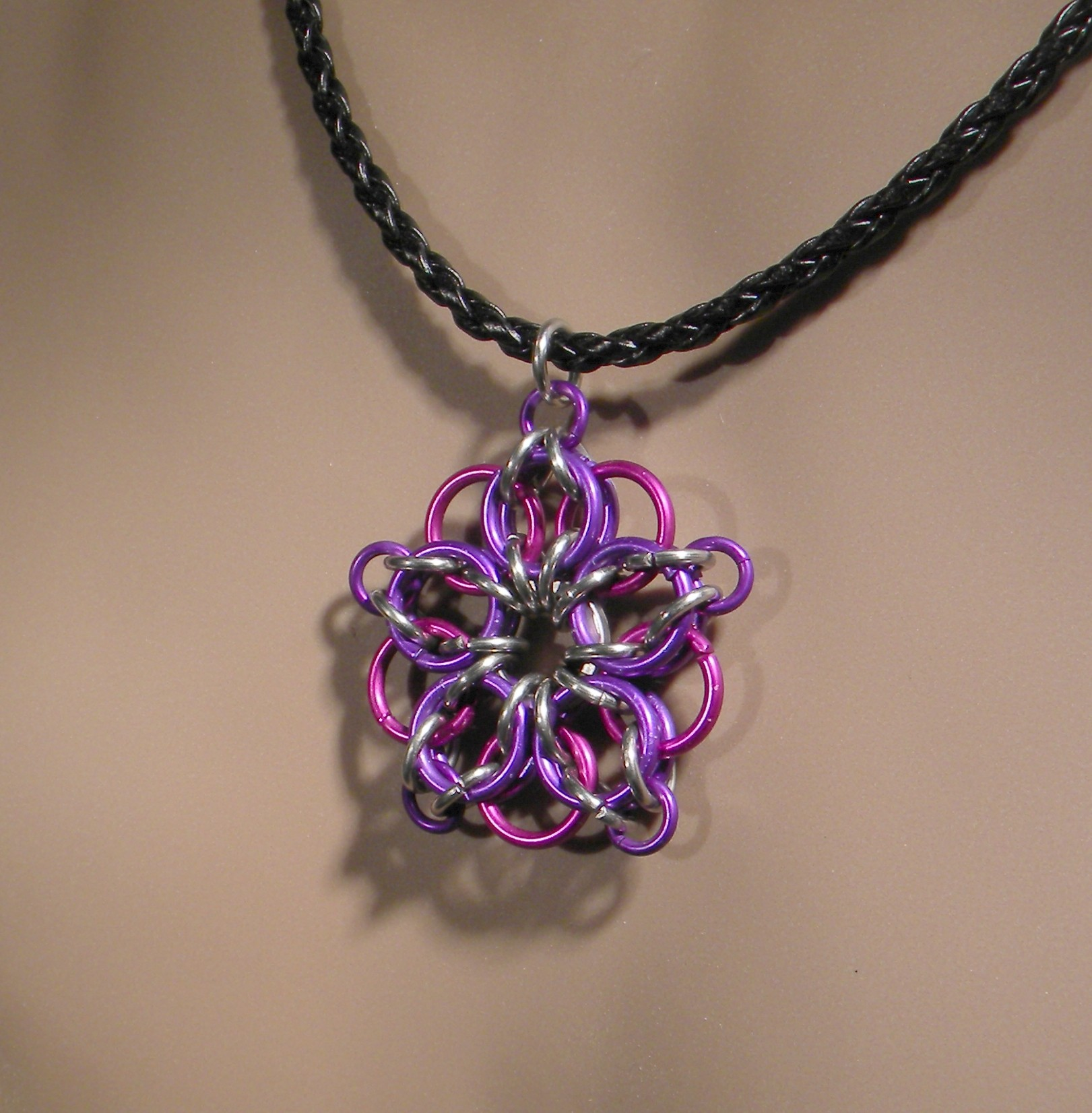 Celtic Star Necklace (Violet/Plum)