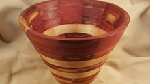 Red Cedar & Pear Segmented Bowl