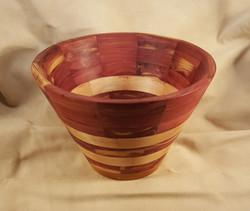 Red Cedar & Pear Segmented Ring Bowl