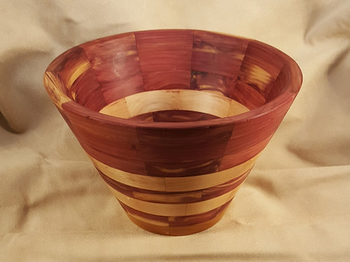 Red Cedar & Pear Segmented Ring Bowl