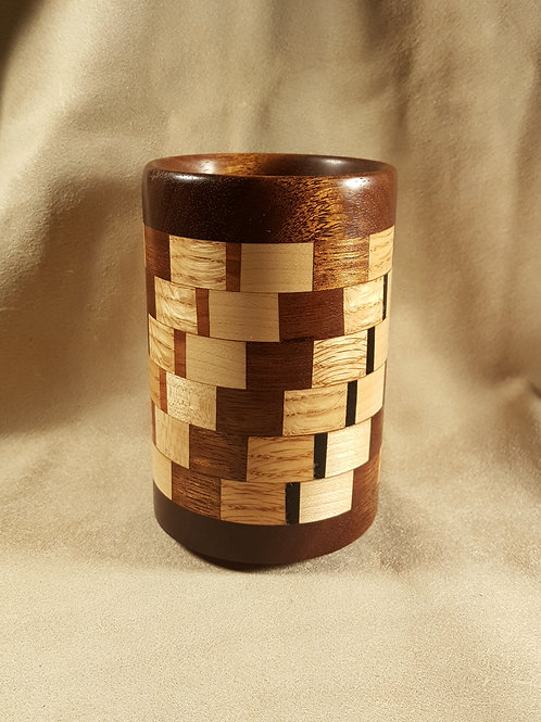 Segmented Ring Wood Chopstick Drying/Pencil Cup