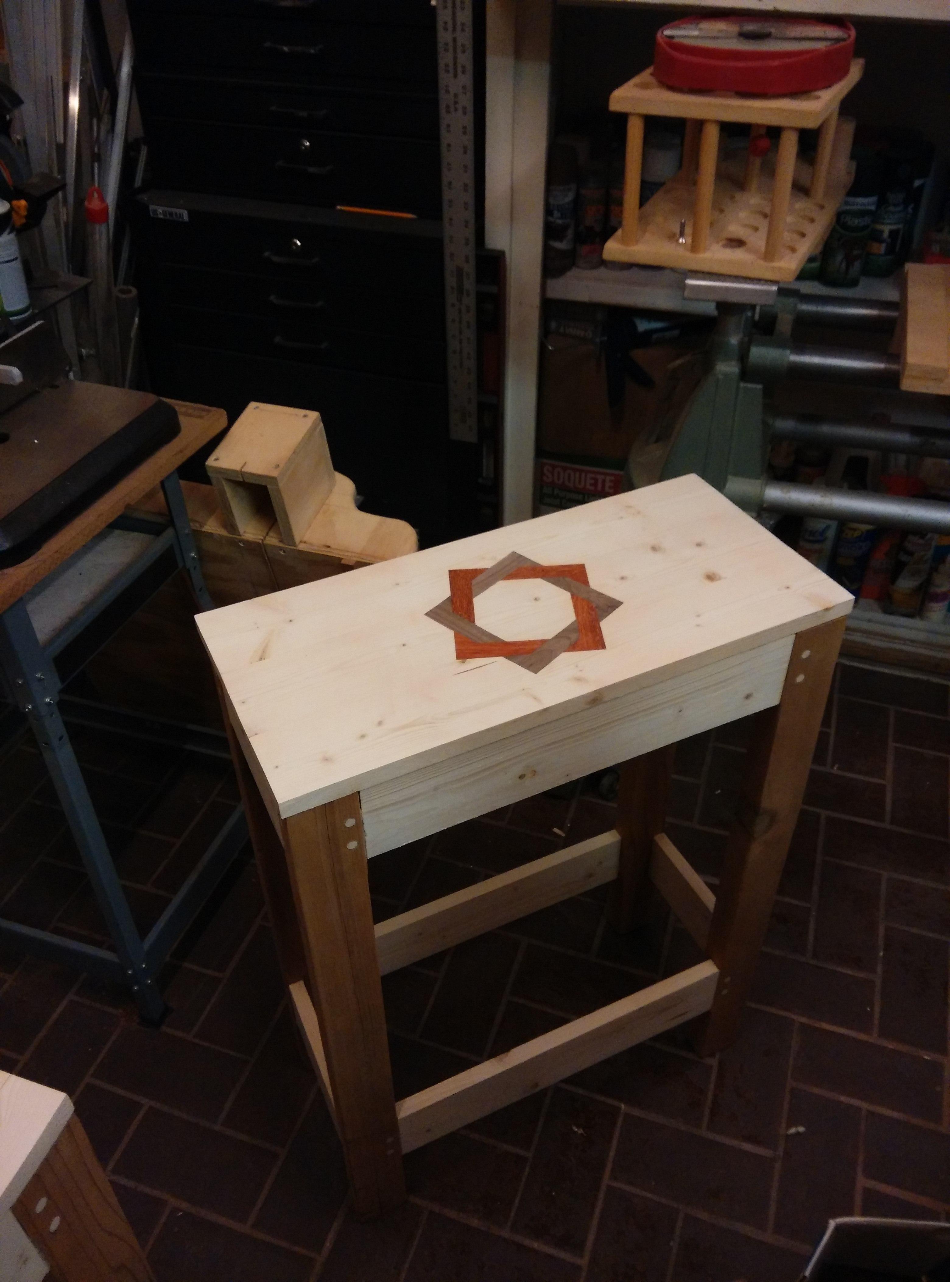 Padauk and Walnut Inlay Table