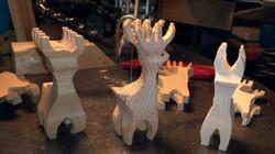 Scrap Wood Reindeer