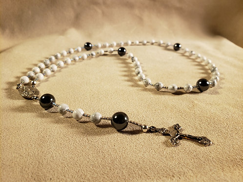 Rosary #4 - Stone and Glass Beads