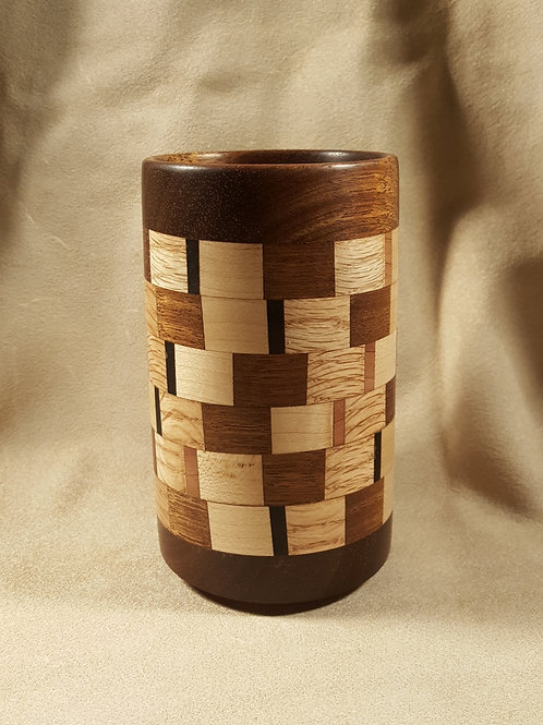 Segmented Ring Wood Chopstick Drying/Pencil Cup #3