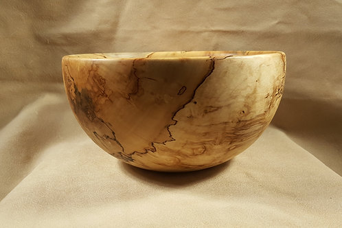 Spalted Maple Large Wood Bowl