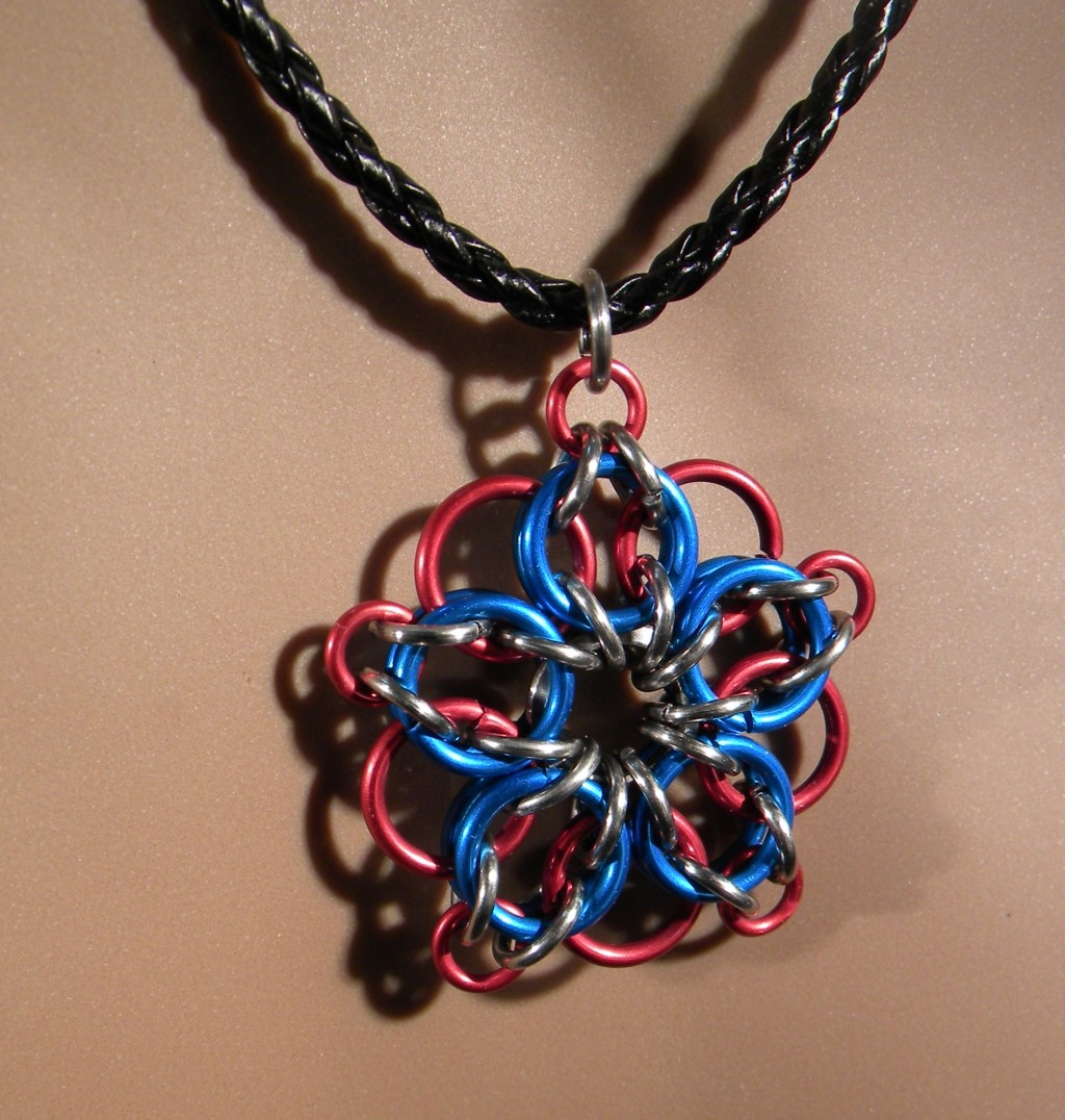 """Firework"" Chainmaille Necklace"