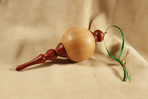 Sycamore and Redheart Wood Ornament