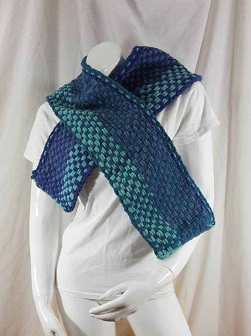 Blueberry Breeze Stripes - Woven Scarf