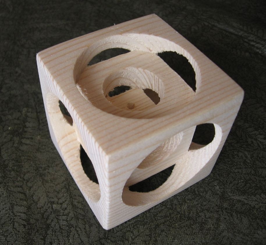 Yellow Pine Illussion Cube