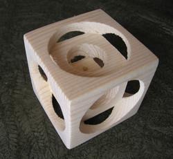 Yellow Pine Illussion Cube
