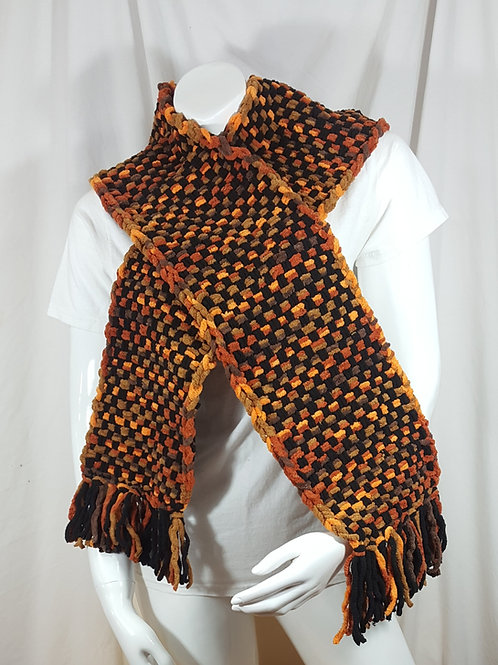 Autumn Leaves Black Dapple - Woven Scarf