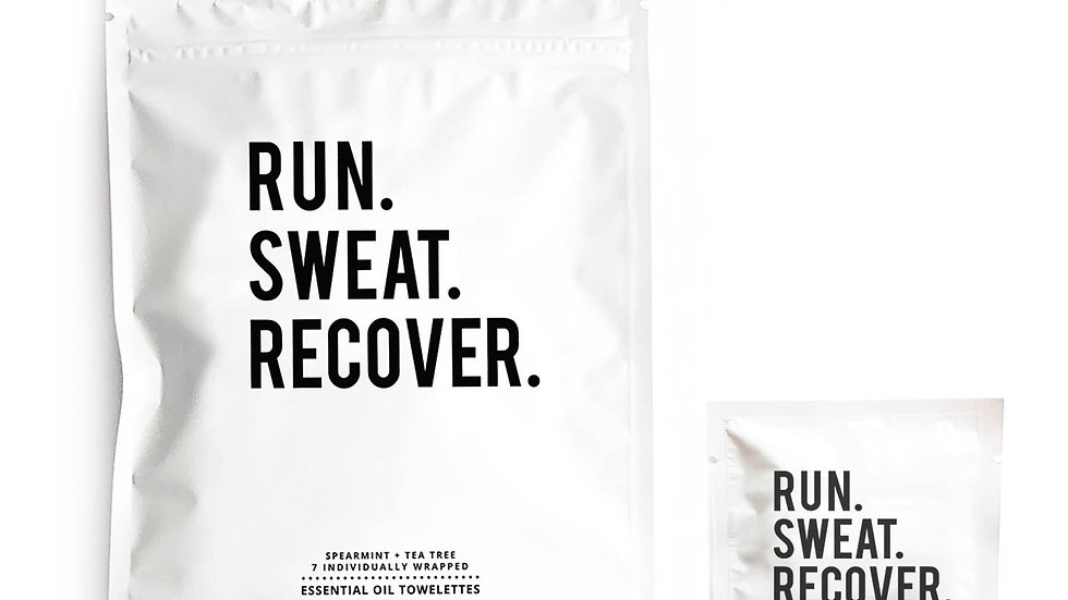 RUN, SWEAT, RECOVER TOWELETTES