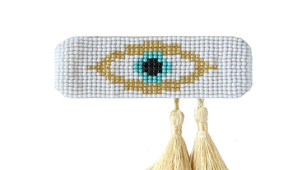 Evil Eye Tassel White