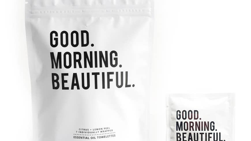 GOOD MORNING BEAUTIFUL TOWELETTES