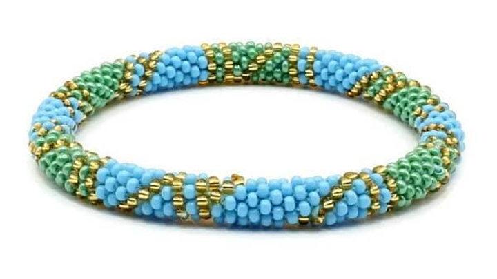 Multi Color Beaded Glass Seed Bracelet