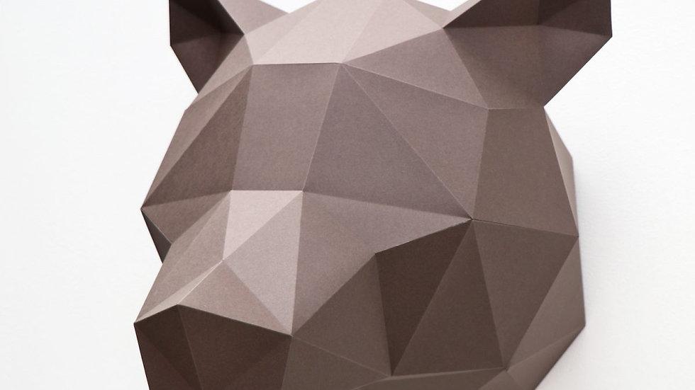 WALL TROPHY PAPER - BEAR