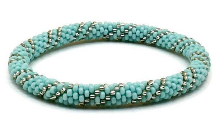 Teal Blue Base With Silver Bead
