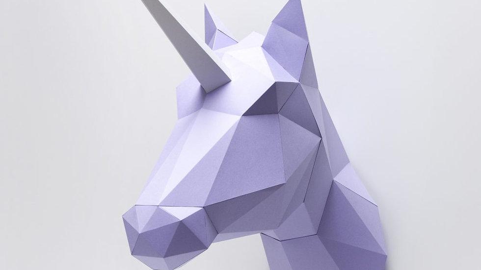 Horse/Unicorn Wall Trophy Purple