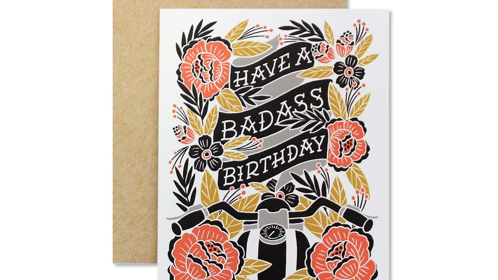 BADASS BIRTHDAY CARD