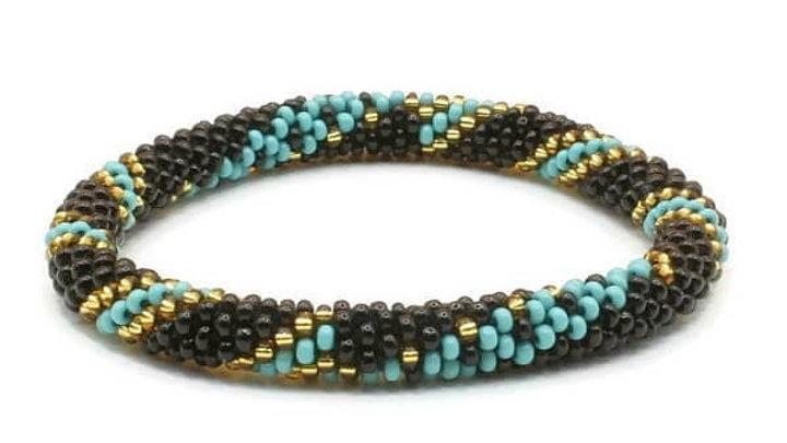 Black and Teal Bracelet